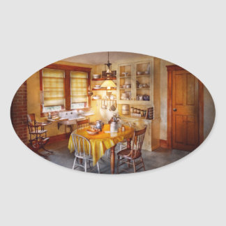 Kitchen - Typical farm kitchen Oval Sticker