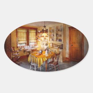 Kitchen - Typical farm kitchen Oval Sticker