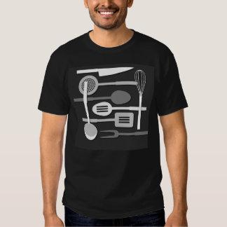 Kitchen Utensil Silhouettes Monochrome III T Shirt