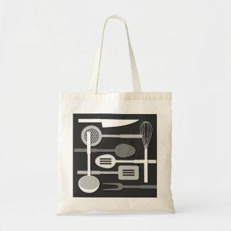 Kitchen Utensil Silhouettes Monochrome III Tote Bag