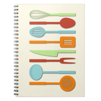 Kitchen Utensil Silhouettes ORBLC II Note Books