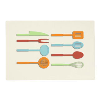 Kitchen Utensil Silhouettes ORBLC II Placemat