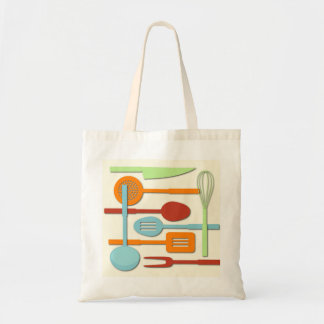 Kitchen Utensil Silhouettes ORBLC III Tote Bag