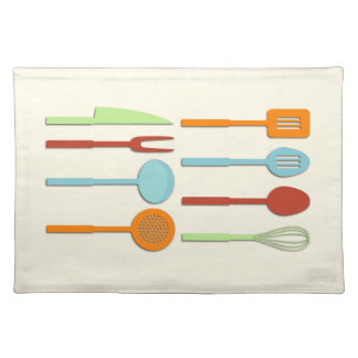 Kitchen Utensil Silhouettes ORBLC Placemat