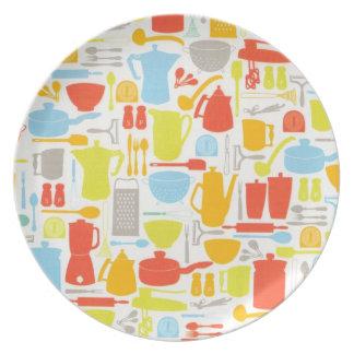 Kitchen Utensils and Appliances Plate