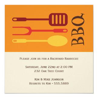 Kitchen Utensils Barbecue Bash Card