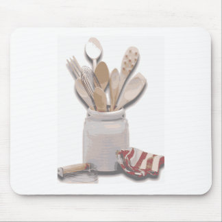 Kitchen Utensils Mouse Pad
