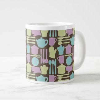Kitchen Utensils Pattern 2 Giant Coffee Mug
