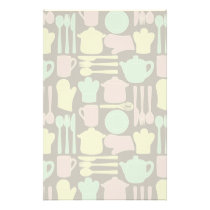 Kitchen Utensils Pattern 2 Stationery