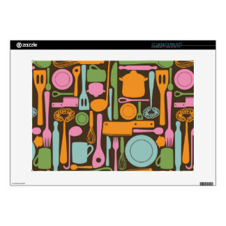 "Kitchen Utensils Pattern 3 Decal For 15"" Laptop"