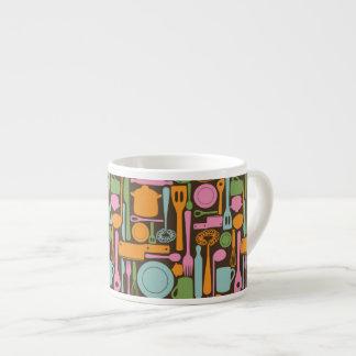 Kitchen Utensils Pattern 3 Espresso Cup