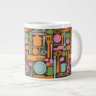 Kitchen Utensils Pattern 3 Giant Coffee Mug