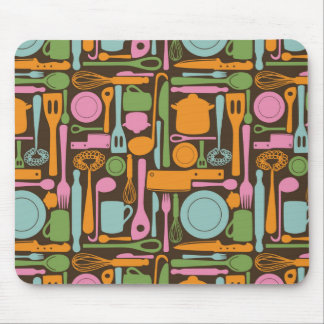 Kitchen Utensils Pattern 3 Mouse Pad