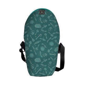 Kitchen Utensils Pattern Messenger Bag