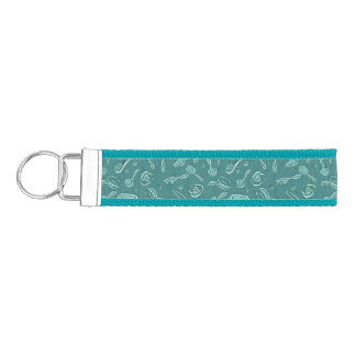 Kitchen Utensils Pattern Wrist Keychain
