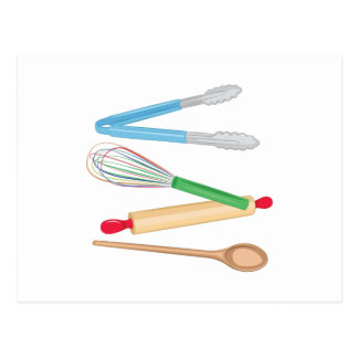 Kitchen Utensils Postcard