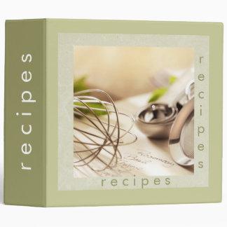 kitchen utensils recipes binder