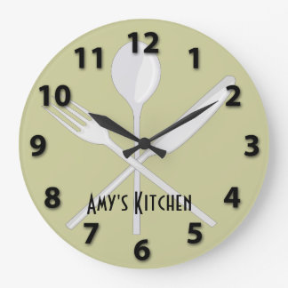 Kitchen Utensils Round Wall Clock