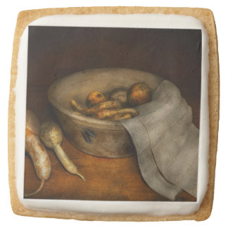 Kitchen - Vegetable - A still life with gourds Square Premium Shortbread Cookie
