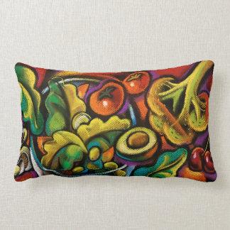 Kitchen vegetable spice medley decorative pillow