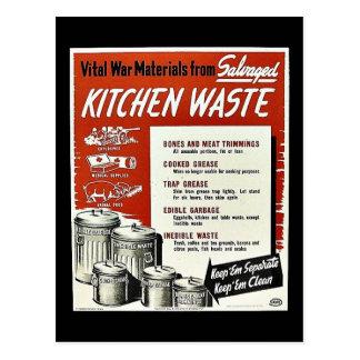 Kitchen Waste Postcard