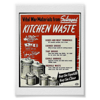Kitchen Waste Poster