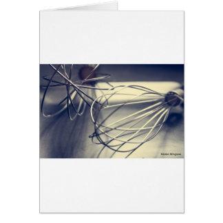 Kitchen whisk card