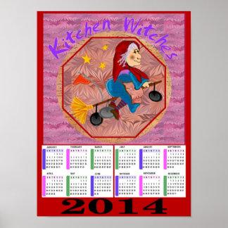 Kitchen Witch 2014 Calendar Poster