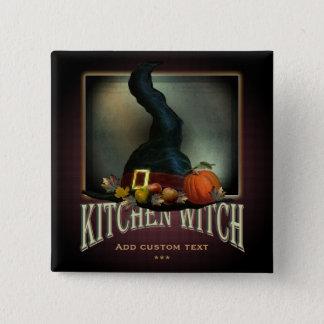 Kitchen Witch Button