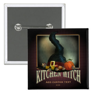 Kitchen Witch Pinback Buttons