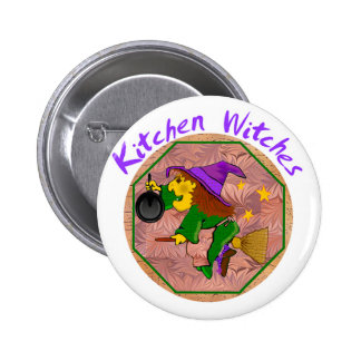 Kitchen Witch Buttons