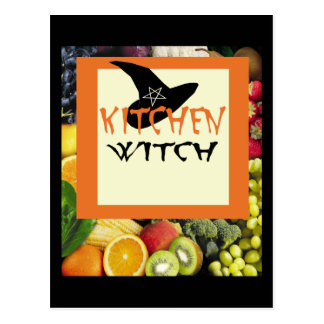 Kitchen Witch Post Card
