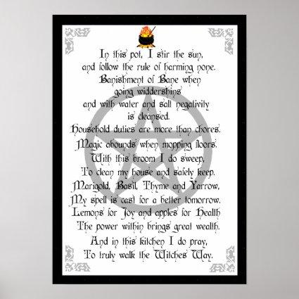 Kitchen Witch Print