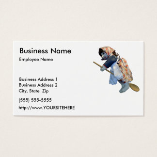 Kitchen Witch Riding Spoon business card template