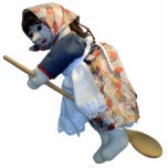 """Kitchen Witch Riding Spoon ornament<br><div class=""""desc"""">The kitchen witch is a Scandinavian folklore symbol of good luck.  She watches over cooking and baking to make sure it all turns out right.  See our other products for coordinating magnets,  napkins,  placemats and kitchen towels.</div>"""