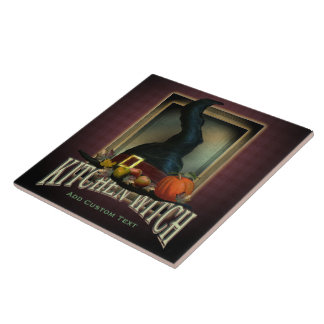 Kitchen Witch Ceramic Tile