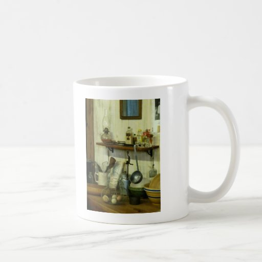 Kitchen With Wire Basket of Eggs Mug