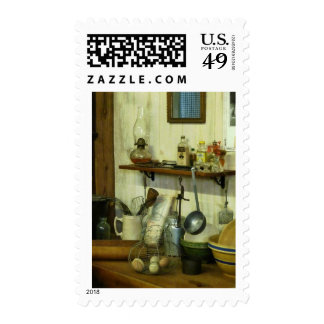 Kitchen With Wire Basket of Eggs Postage