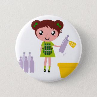 Kitchen wonderful girl with bottle button