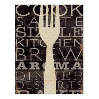 Kitchen Words Postcard
