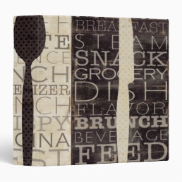 Kitchen Words Trio 3 Ring Binder
