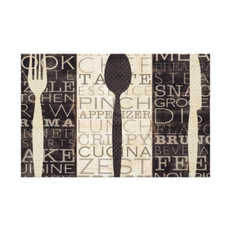 Kitchen Words Trio Canvas Print
