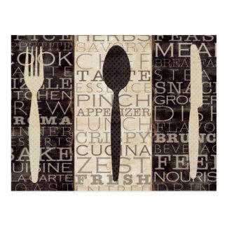 Kitchen Words Trio Postcard