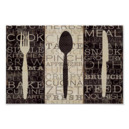 Kitchen Words Trio Poster