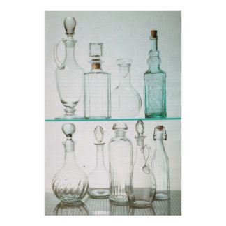 Kitchenalia, Bottles and decanters Poster