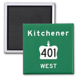 Kitchener 401 2 inch square magnet