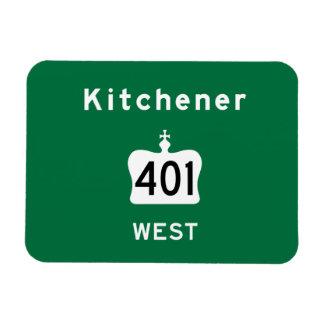 Kitchener 401 rectangular photo magnet