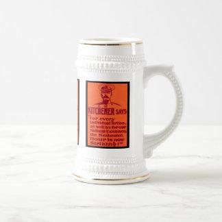 Kitchener Says ~ Vintage British WW1 Poster Beer Stein