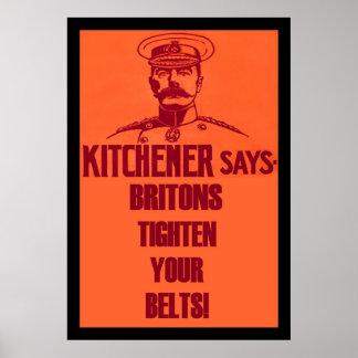 Kitchener Says ~ Vintage Style British Poster