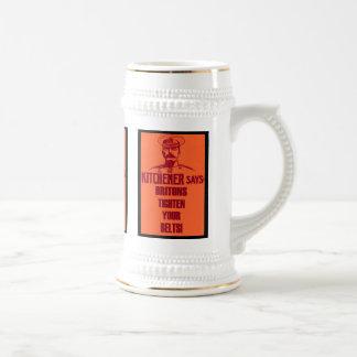 Kitchener Says ~ Vintage Style British Poster Beer Stein